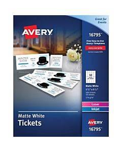 Avery® Blank Printable Perforated Raffle Tickets - Tear-away Stubs