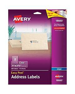 Avery® Matte Clear Address Labels - Sure Feed Technology