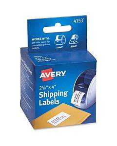 """Avery® Thermal Roll Labels 2-1/8""""x4"""" , 140 Shipping Labels-1 Roll (4153)"""