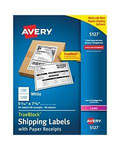 Avery® White Shipping Labels W/ Receipt