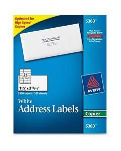 Avery® Copier Address Labels