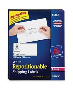 Avery® Repositionable Shipping Labels - Sure Feed Technology