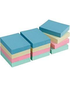 Business Source Premium Plain Pastel Adhesive Notes