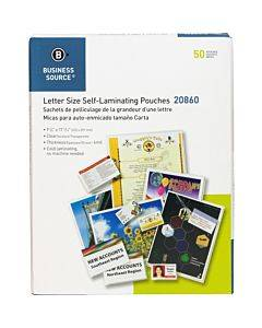 Business Source Clear Laminating Document Pouches