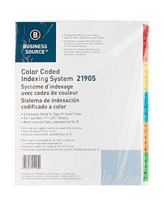 Business Source A-z Tab Table Of Contents Index Dividers