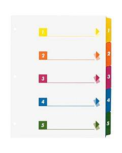 Business Source Color-coded Table Of Contents/tabs Index Dividers
