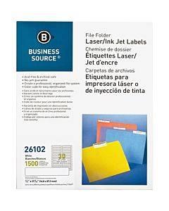 Business Source Laser/inkjet File Folder Labels