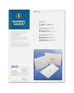 Business Source Clear Return Address Laser Labels