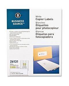 Business Source Bright White Copier Labels