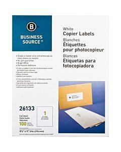 """Business Source 8-1/2""""x11"""" Copier Labels"""