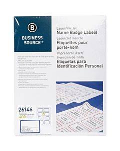 Business Source Laser/inkjet Name Badge Labels