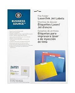 Business Source Laser/inkjet Permanent File Folder Labels