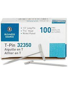 Business Source High Quality Steel T-pins