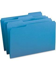 Business Source 1/3-cut Tab Legal Colored File Folders