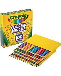 Crayola 100-count Colored Pencils - Unique Colors - Pre-sharpened