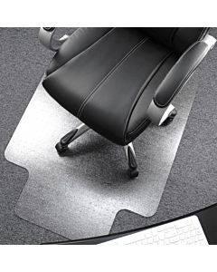 Cleartex Plush Pile Polycarbonate Chairmat W/lip