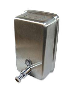 Genuine Joe Stainless Vertical Soap Dispenser