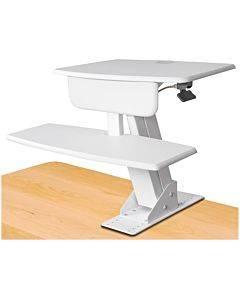 Kantek Desk Clamp On Sit To Stand Workstation White