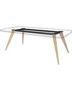 """Lorell Wood Base For 72""""w Rectangular Conference Table"""