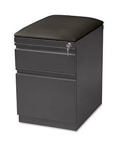 Lorell Seat Cushion Top Mobile File Pedestal File - 2-drawer