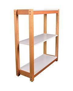 Lorell Mid-century Modern 3-shelf Bookcase
