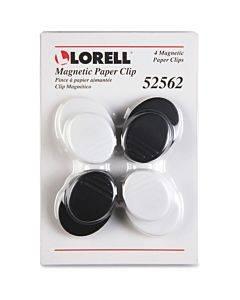Lorell Plastic Cap Magnetic Paper Clips