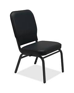 Lorell Vinyl Back/seat Oversized Stack Chairs