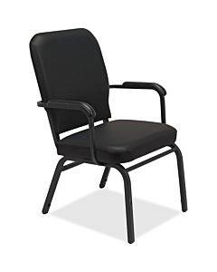 Lorell Fixed Arms Vinyl Oversized Stack Chairs