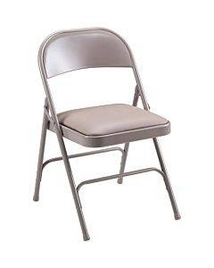 Lorell Steel Folding Chairs - 4/ct