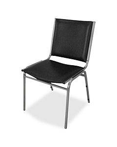 Lorell Padded Armless Stacking Chairs - 4/ct