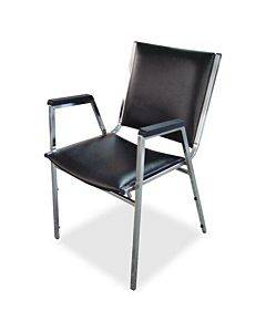 Lorell Plastic Arm Stacking Chairs - 4/ct