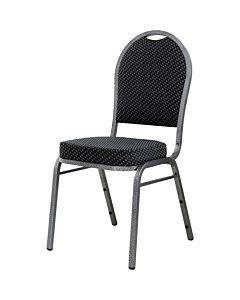 Lorell Upholstered Textured Fabric Stacking Chairs - 4/ct