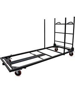 Lorell Blow Mold Rectangular Table Trolley Cart