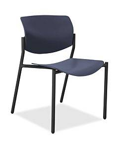 Lorell Stack Chairs With Molded Plastic Seat & Back