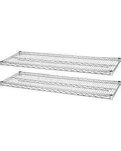 Lorell Indust Wire Shelving Starter Extra Shelves