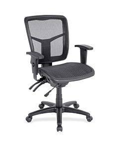 Lorell Mid-back Swivel Mesh Chair