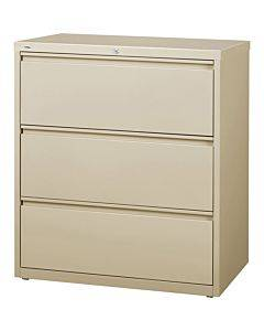 Lorell 3-drawer Putty Lateral Files