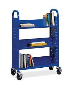 Lorell Single-sided Steel Book Cart