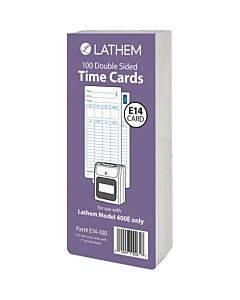 Lathem Model 400e Double Sided Time Cards