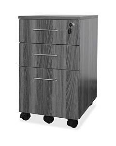 Mayline Medina Gray Laminate Bbf Mobile Pedestal - 3-drawer