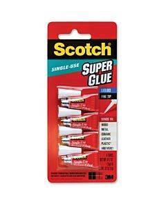 Scotch Super Glue Liquid - 0.05 Grams Single-use Tubes