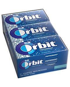 Orbit Peppermint Sugarfree Gum - 12 Packs