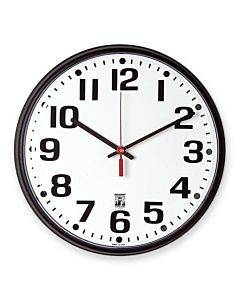 Skilcraft Black Body Selfset Wall Clock
