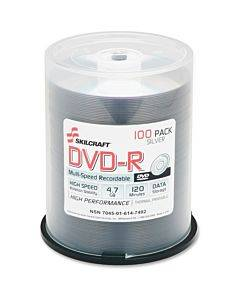 Skilcraft Dvd Recordable Media - Dvd-r - 4.70 Gb - 100 Pack Spindle