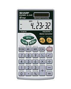 Sharp Calculators El-344rb 10-digit Handheld Calculator