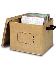 Teacher Created Resources Burlap Storage Box