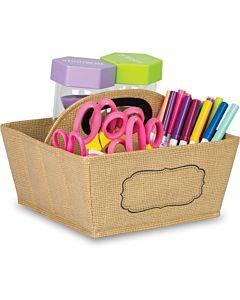 Teacher Created Resources Burlap Storage Caddy