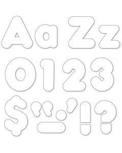 """Trend White 4"""" Casual Ready Letters Combo Pack"""