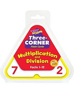 Trend Multiplication/division Three-corner Flash Card Set