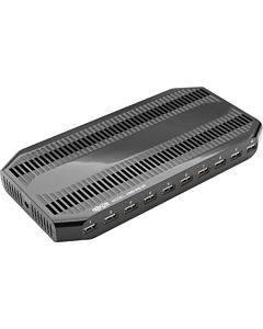 Tripp Lite 10-port Usb Charging Station Hub W Adjustable Storage Tablet / Smartphone / Ipad / Iphone 5v 21a 105w